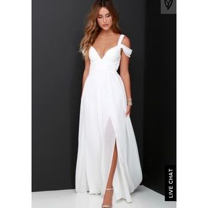 Lulu's ivory maxi dress